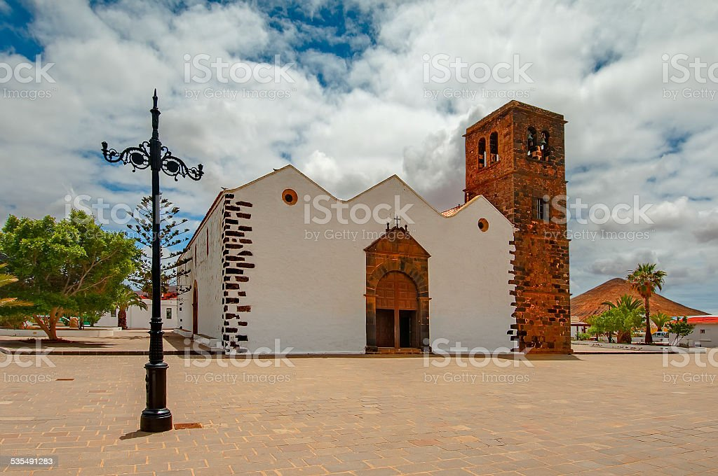 Church of Our Lady of Candelaria in La Oliva, Fuerteventura, Spain stock photo