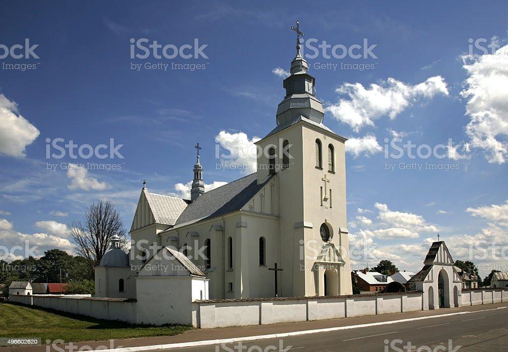 Church of Our Lady of Czestochowa in Dzwola. Poland stock photo