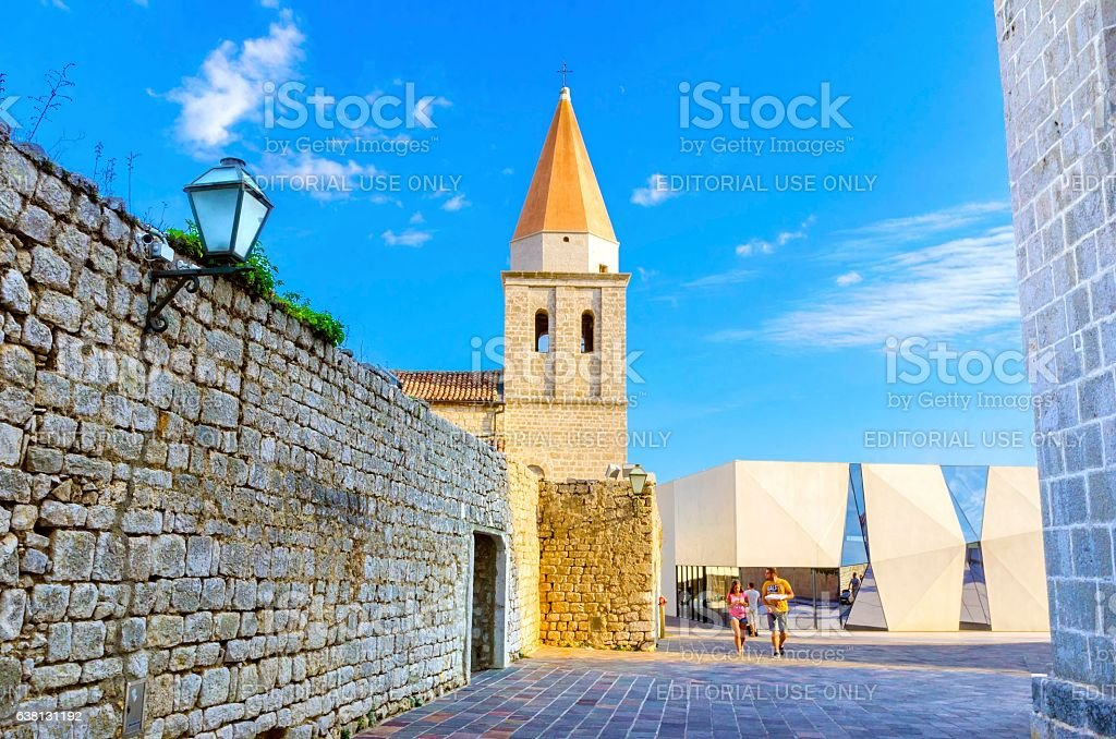 Church of Our Lady of Health, Krk, Croatia stock photo