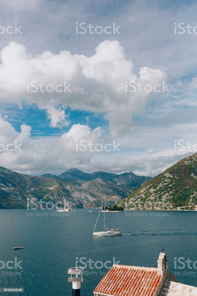Church of Our Lady of the Angels in Donji Stoliv, Montenegro, Ko stock photo
