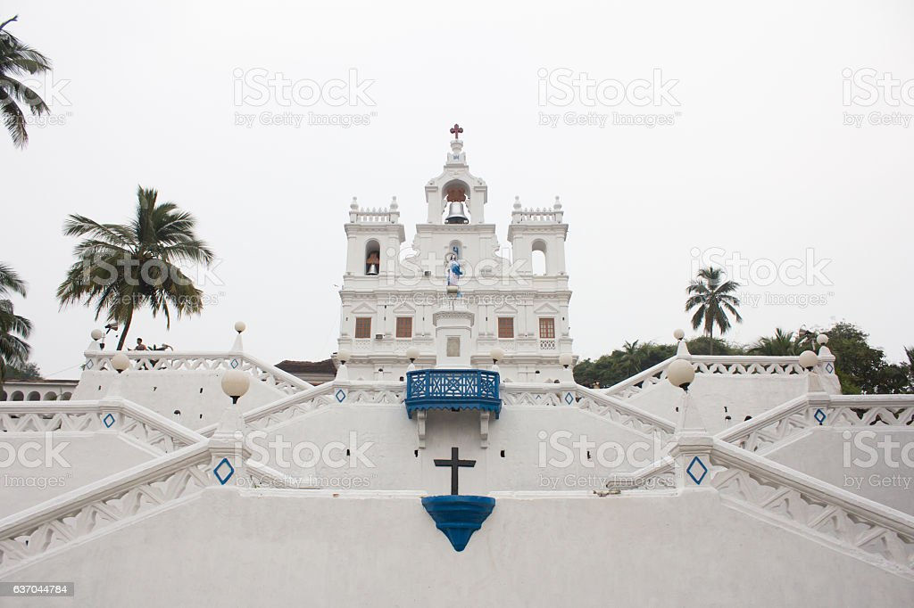 Church of Our Lady of the Immaculate Conception, goa, india stock photo