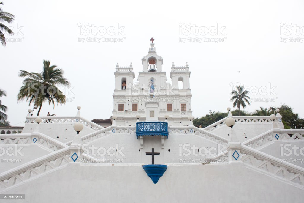 Church of Our Lady of the Immaculate Conception in Panaji, goa, india stock photo