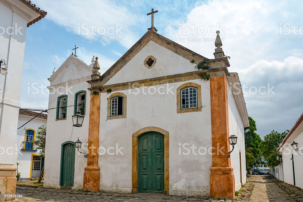 Church of Our Lady of the Rosary and Saint Benedict stock photo