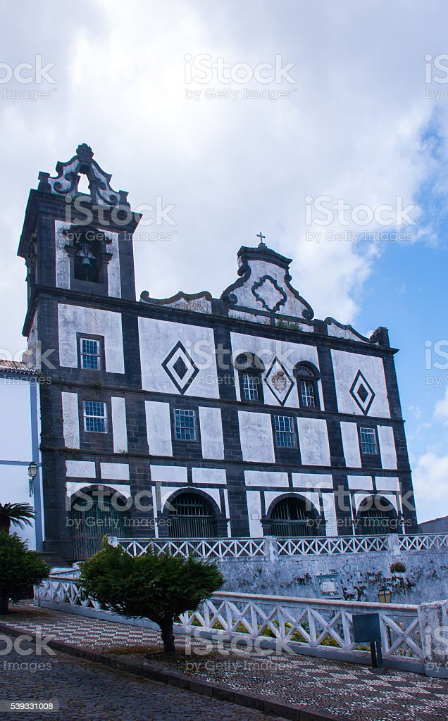 Church of Our Lady of the Rosary, Horta, Azores stock photo
