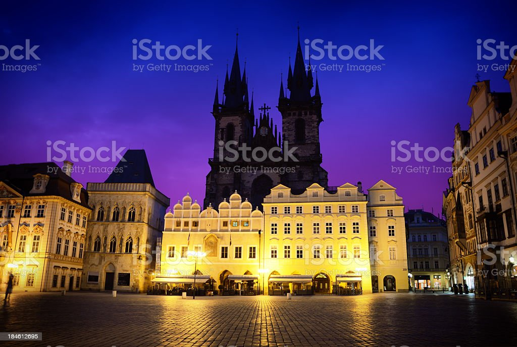 Church of Our Lady, Prague stock photo