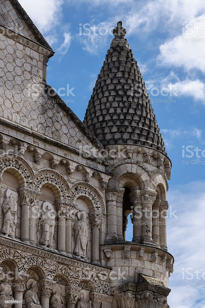 E‰glise Notre-Dame la Grande. Poitiers, France stock photo