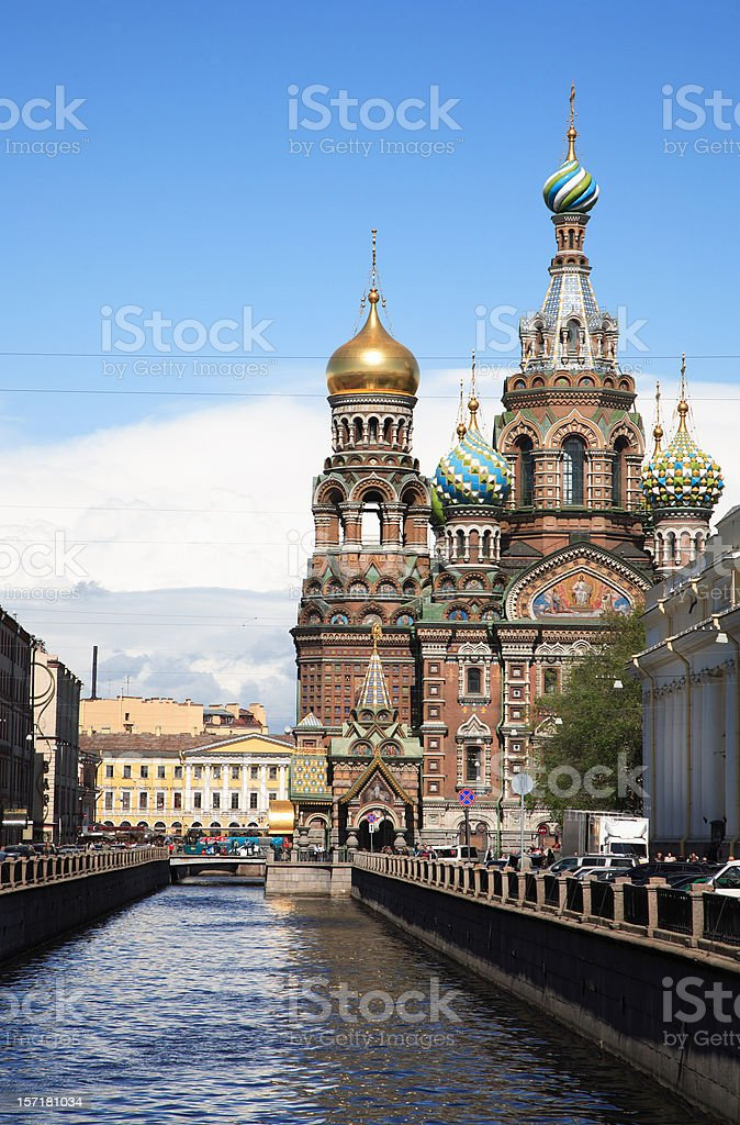 Church of Our Savior on the Spilled Blood royalty-free stock photo