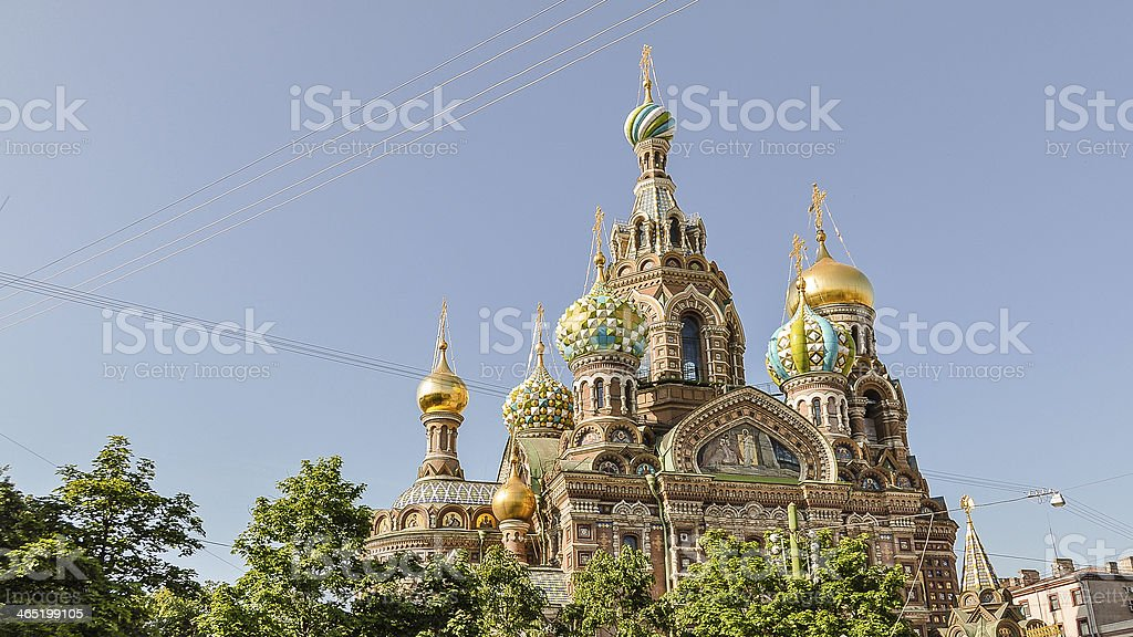 Church of Our Savior on the Spilled Blood - Russia stock photo