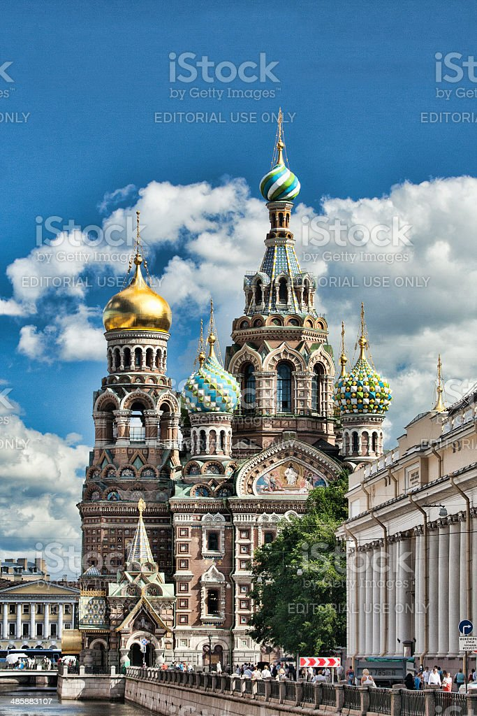 Church of Our Saviour on Spilled Blood in St. Petersburg stock photo