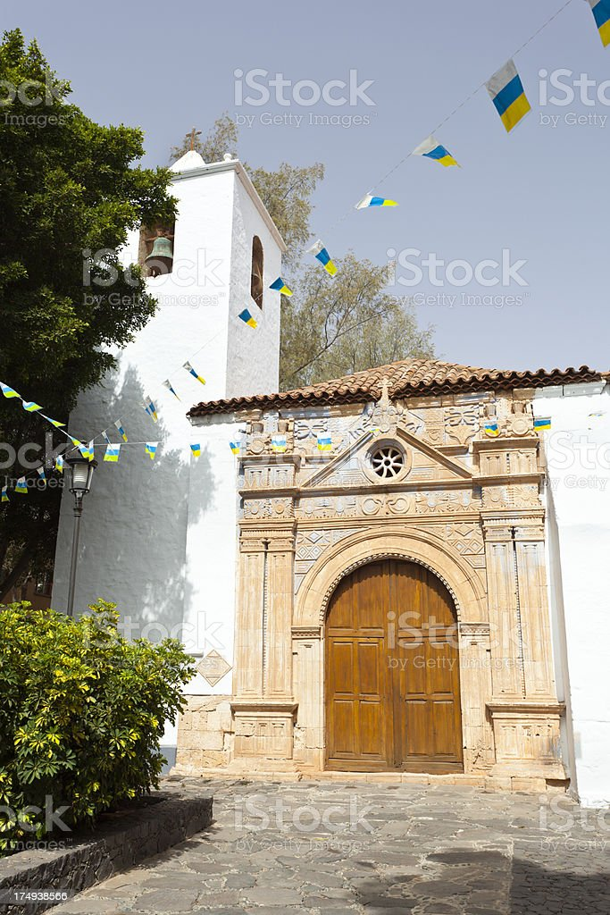 Church Of Pajara, Fuerteventura royalty-free stock photo