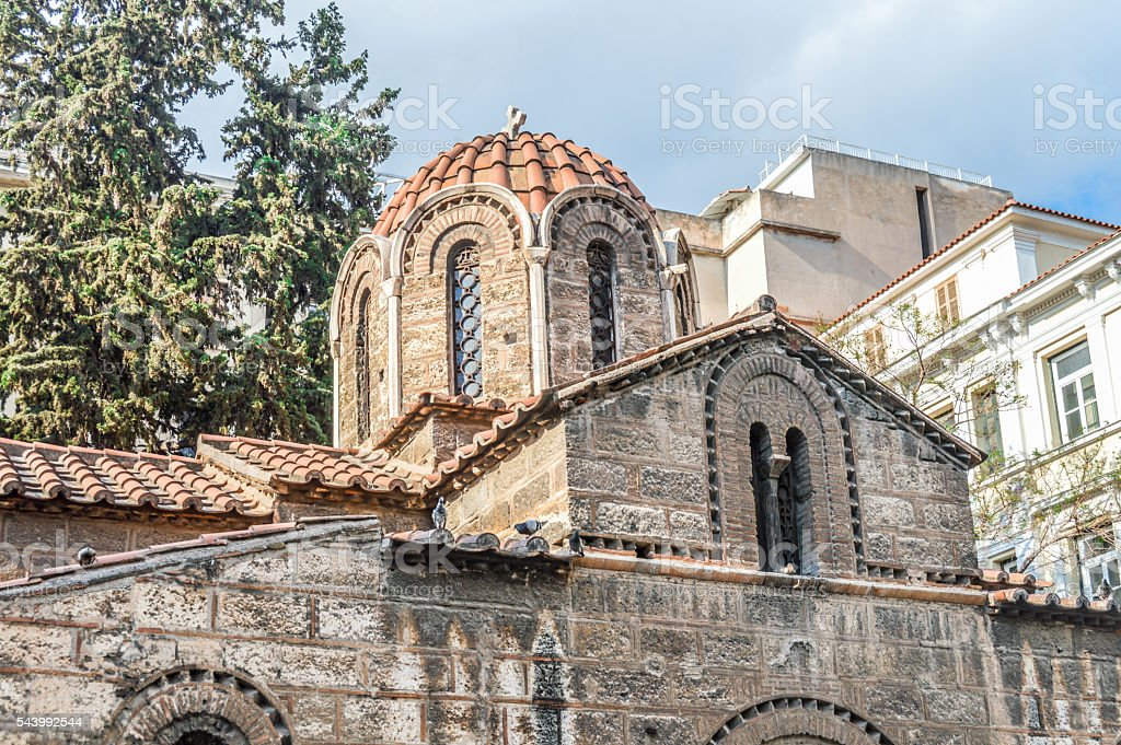 Church of Panaghia Kapnikarea - Athens, Greece stock photo