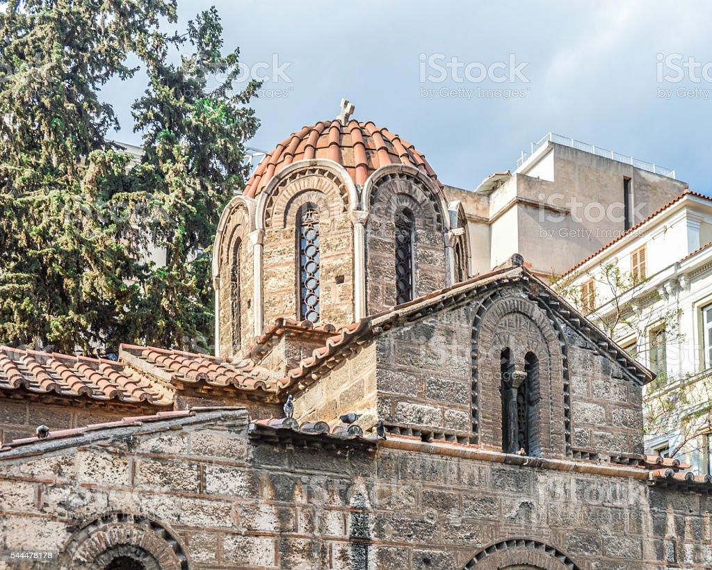 Church of Panaghia Kapnikarea - Athens, Greece stock photo