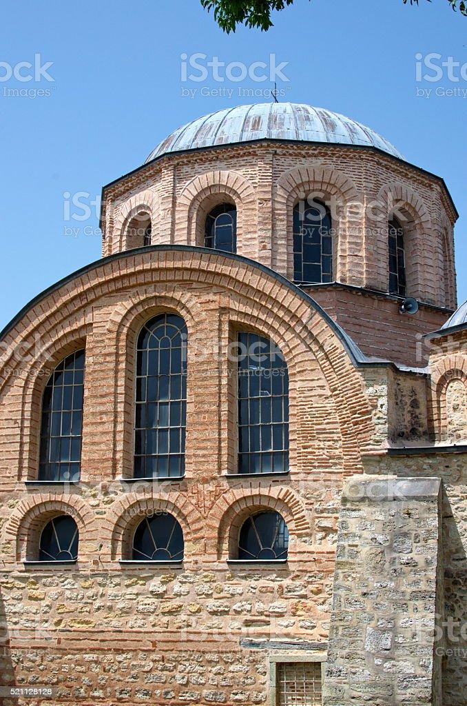 Church of Panagia Kosmosoteira at Feres stock photo