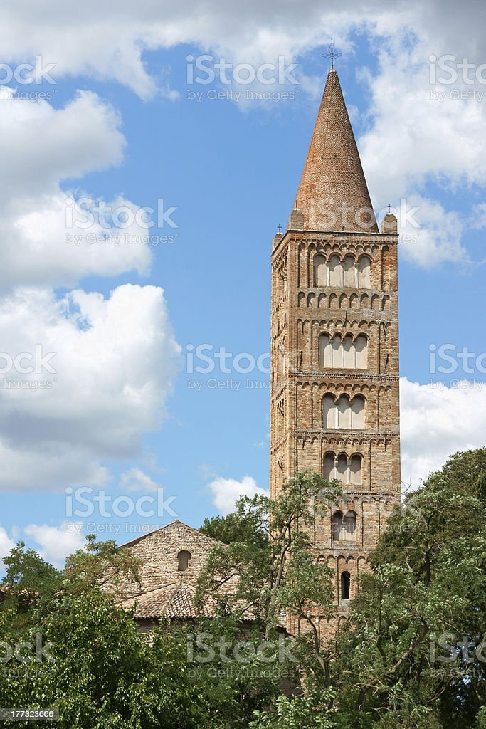 Church of Pomposa Abbey stock photo