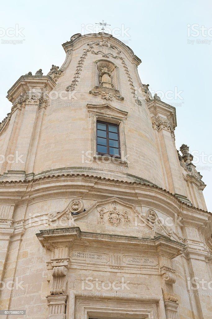 Church of Purgatory - Matera Italy stock photo
