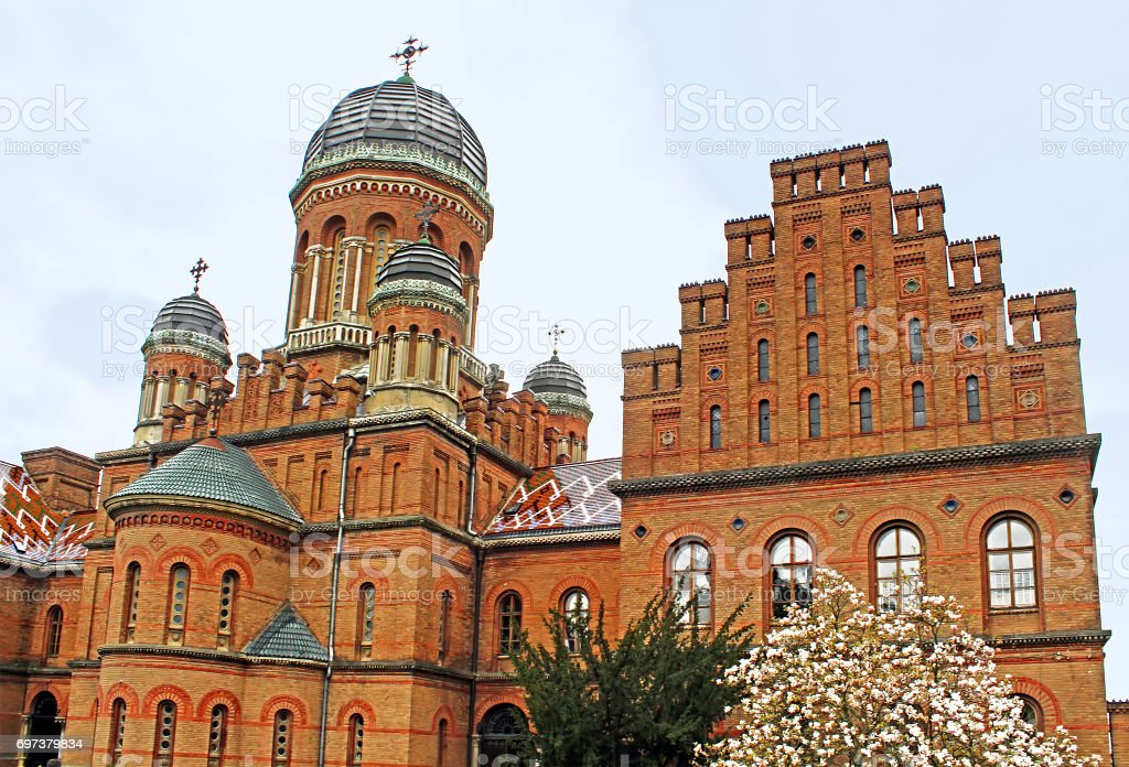 Church of residence of Bukovinian and Dalmatian Metropolitans. Chernovtsi, Europe stock photo