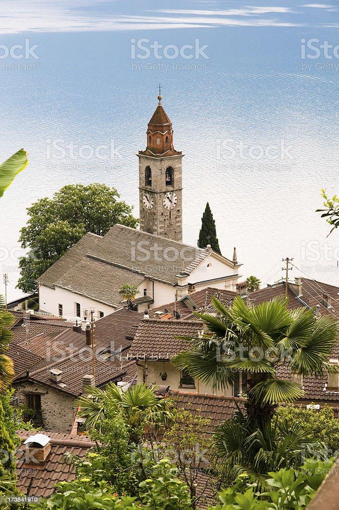 church of Ronco sopra Ascona royalty-free stock photo
