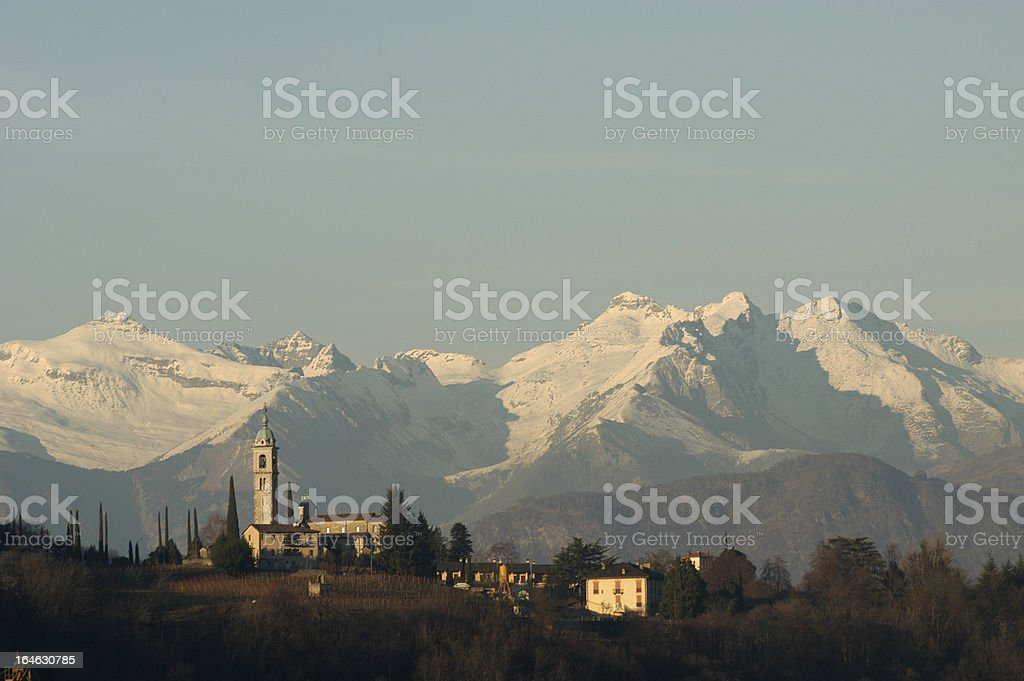 church of S.Abbondio at Gentilino royalty-free stock photo