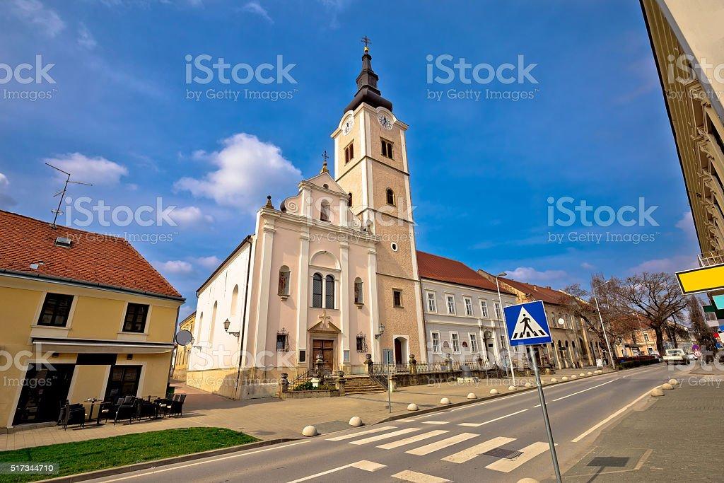 Church of saint Ana in Krizevci stock photo