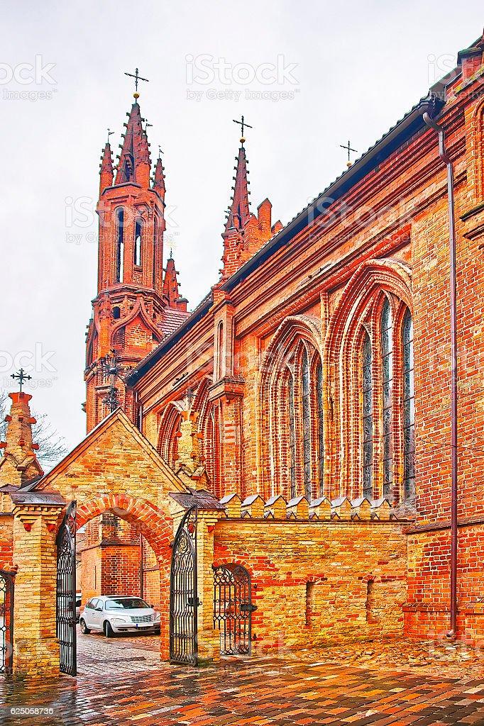 Church of Saint Anna and Church of the Bernardine stock photo