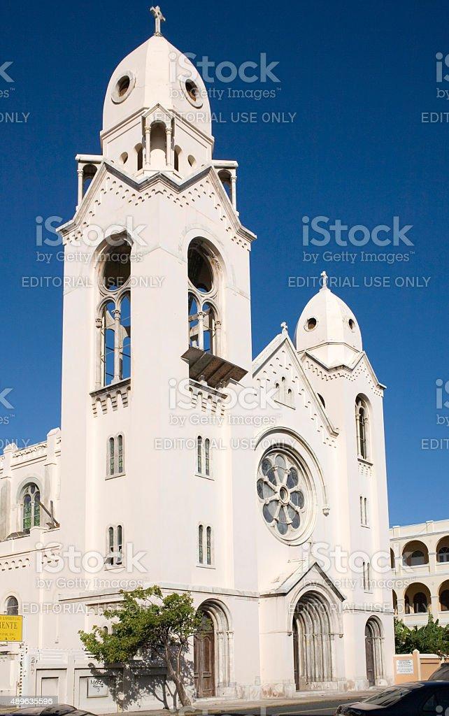 Church of Saint Augustine stock photo