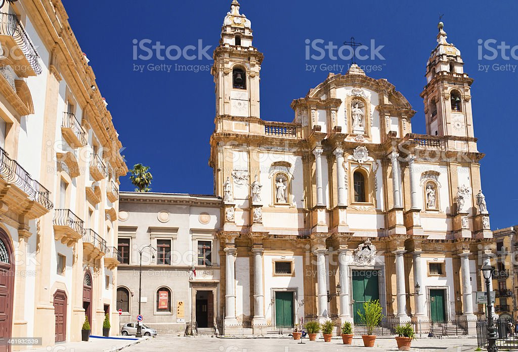 Church of Saint Dominic in Palermo, Italy stock photo