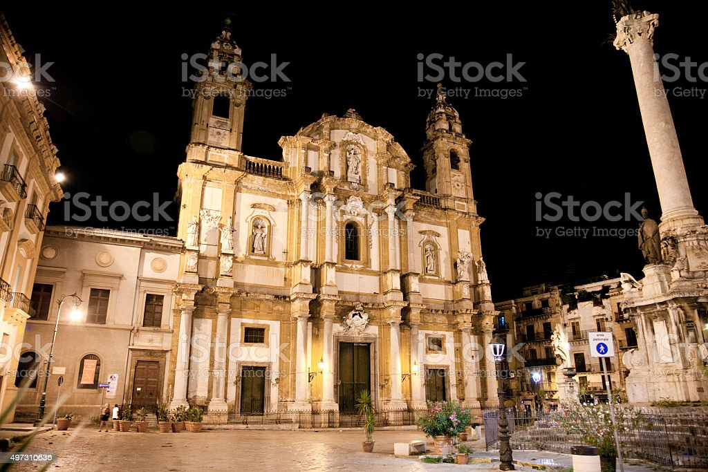 Church of Saint Dominic in Palermo, Sicily stock photo