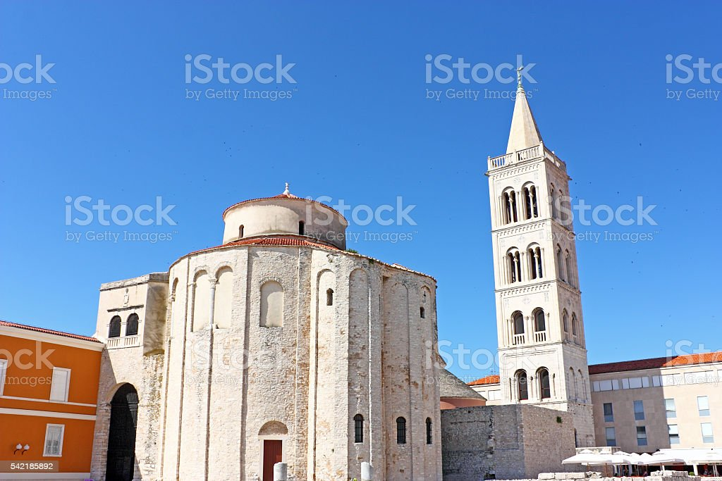 Church of saint Donat in Zadar, Croatia from 9th century stock photo