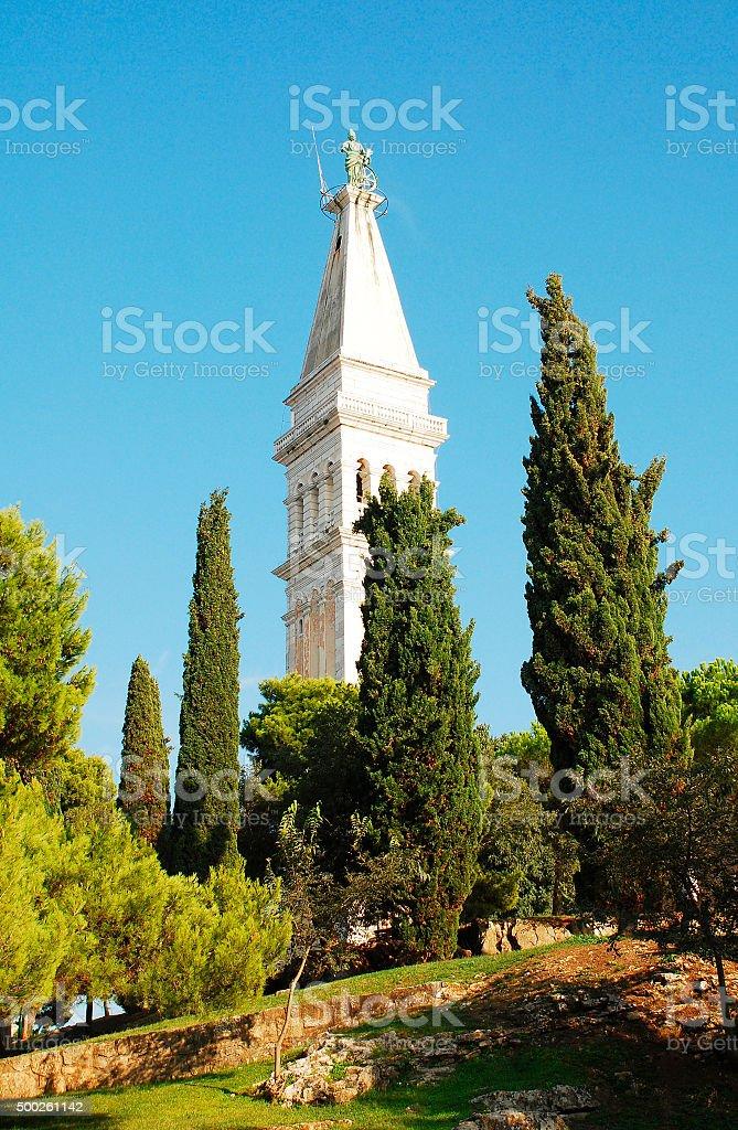 Church of Saint Euphemia in Rovinj stock photo