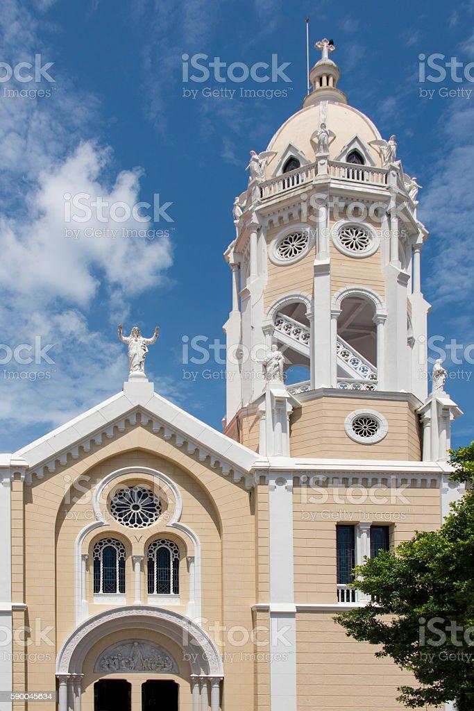 Church of Saint Francis in  Panama City stock photo