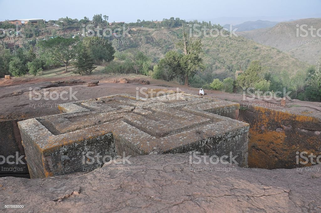 Church of Saint George, Lalibela, Ethiopia stock photo
