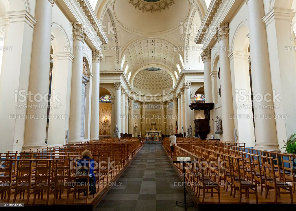Church of Saint Jacques-sur-Coudenberg, Brussels. royalty-free stock photo
