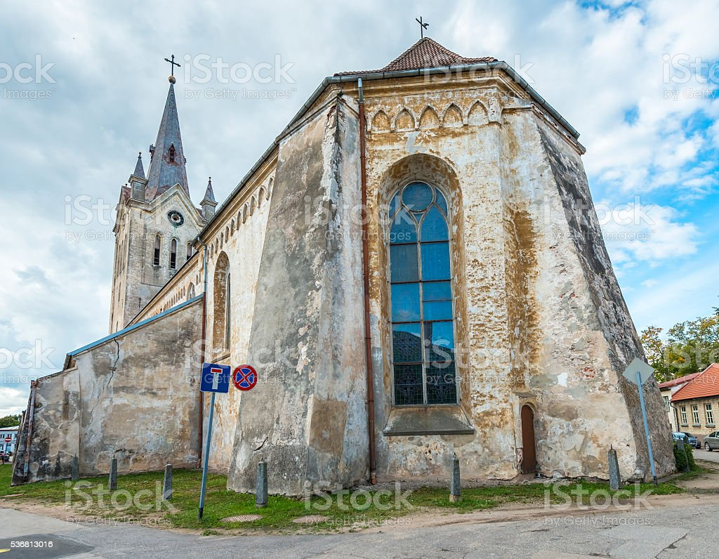 Church of Saint John in Cesis, Latvia, Europe stock photo