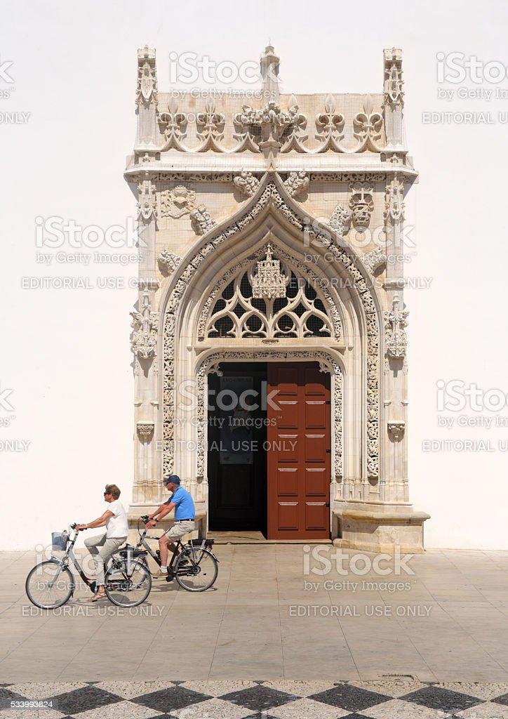 Church of Saint John the Baptist. Tomar, Portugal stock photo
