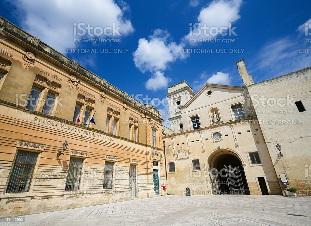 Church of Saint John the Evangelist in Lecce stock photo