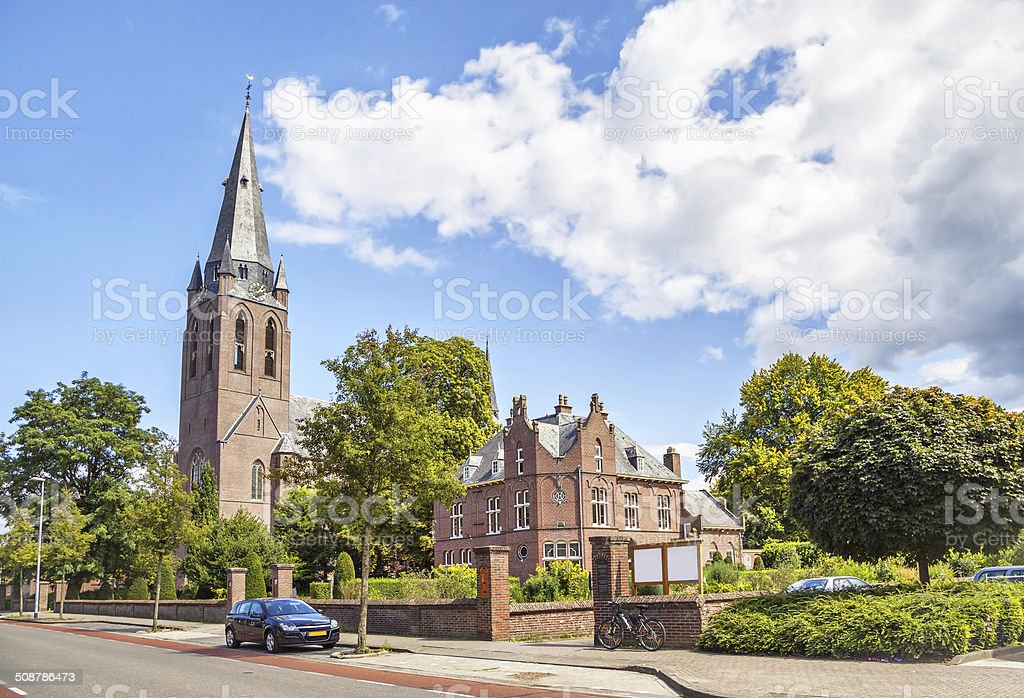 Church of Saint Lambert in Eindhoven stock photo