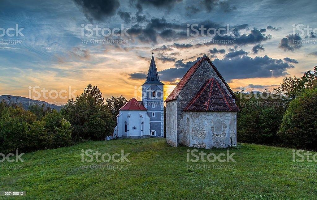 Church of Saint Mary stock photo