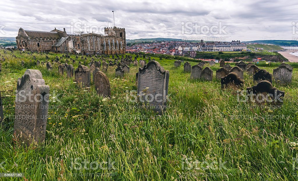 Church of Saint Mary, Whitby stock photo