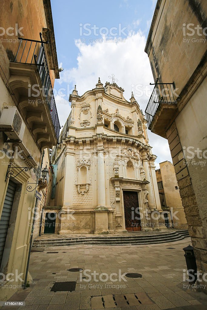 Church of Saint Matthew in Lecce, Puglia, Italy stock photo