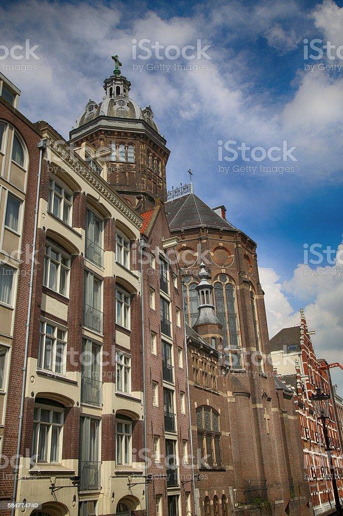 Church of Saint Nicholas in Amsterdam, the Netherlands stock photo
