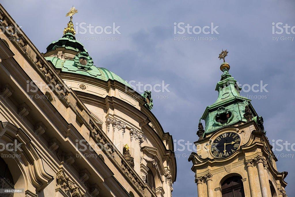 Church of Saint Nicholas Prague stock photo