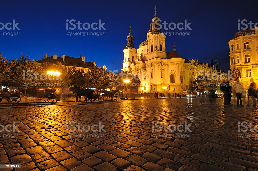 Church of Saint Nikolaus in Prague royalty-free stock photo