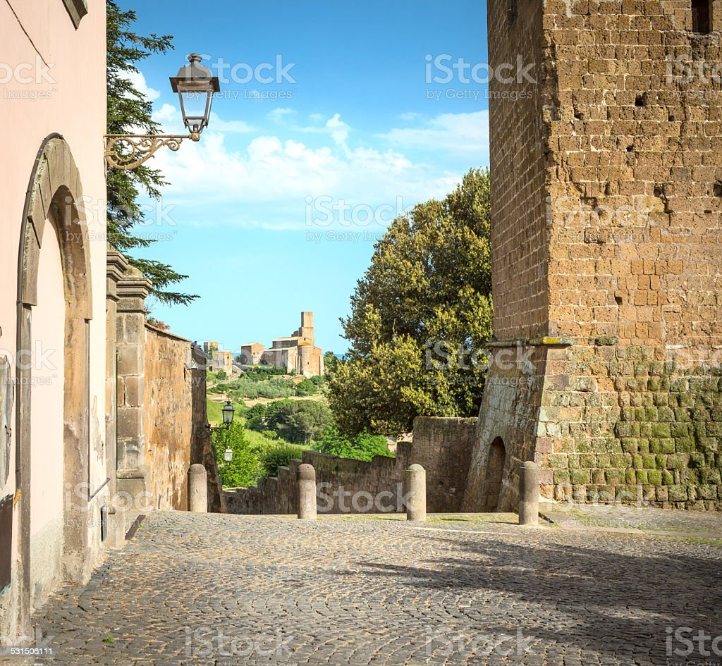 Church of Saint Peter in Tuscania, Lazio Italy stock photo
