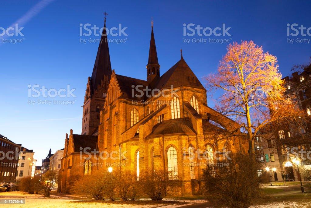 Church of Saint Peter, Malmo stock photo