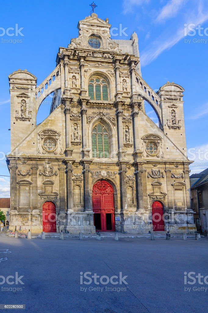 Church of Saint Pierre, in Auxerre stock photo