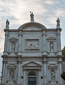 Church of Saint Roch with dramatic sky in Venice, Italy