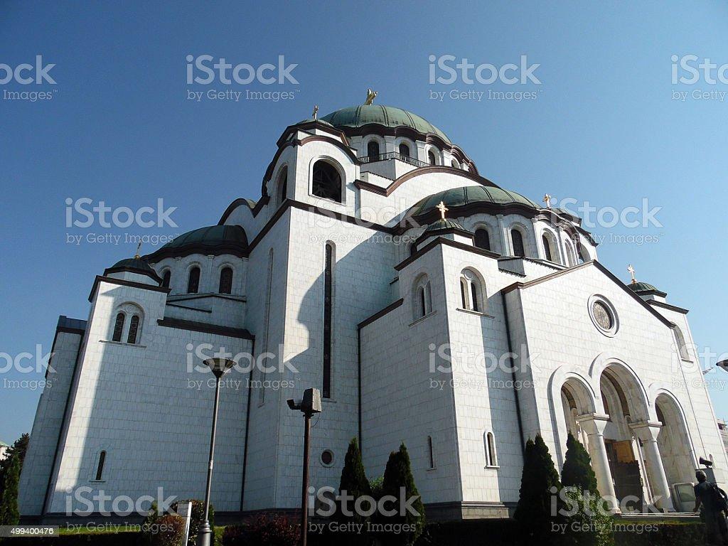 Church of Saint Sava in Belgrade - Serbia stock photo