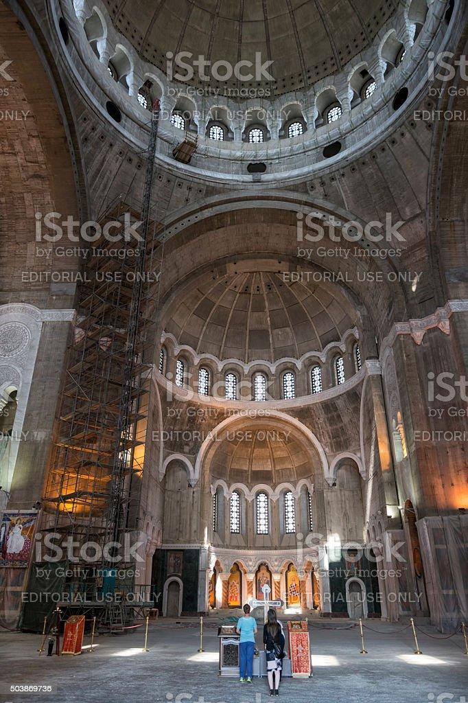 Church Of Saint Sava Interior, Belgrade, Serbia stock photo