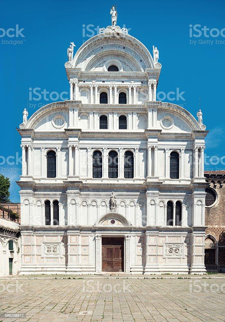 Church of Saint Zachary in Castello, Venice, Italy stock photo