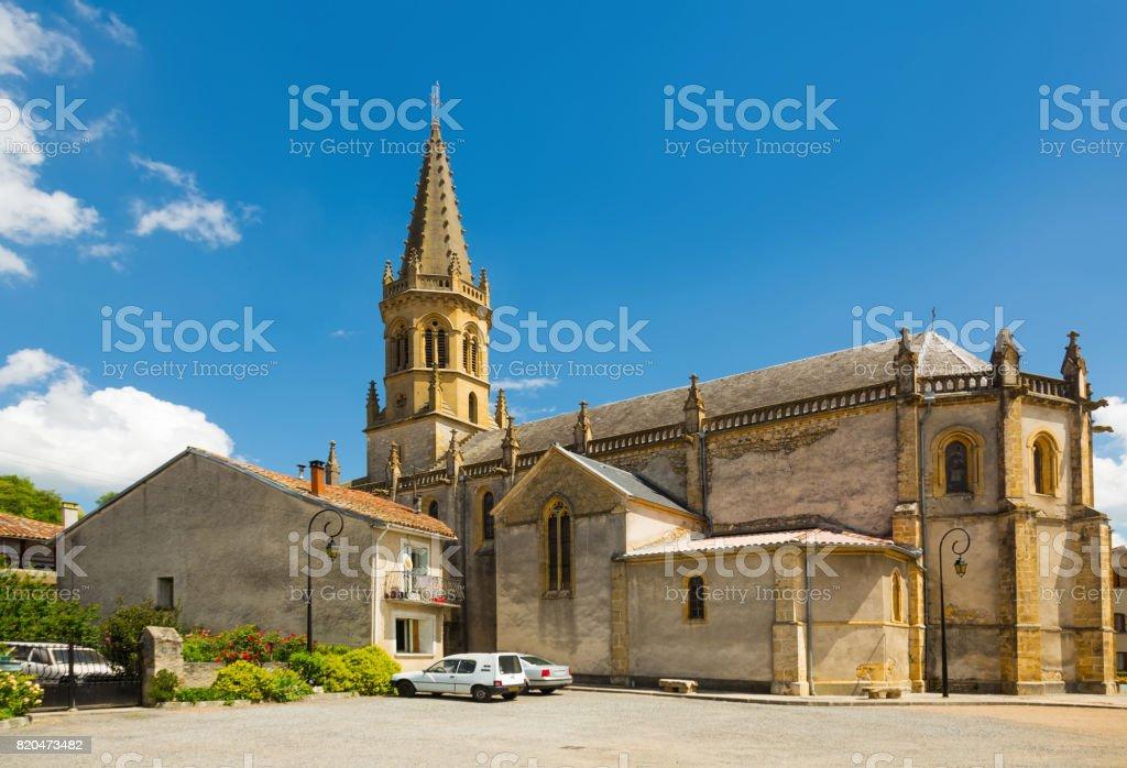 Church of Saint-Michel in Lestelle-de-Saint-Martory stock photo